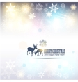 elegant christmas background with snowflakes and p vector image
