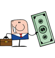businessman holding cash vector image vector image