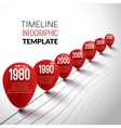 Infographic Timeline realistic Template with red vector image