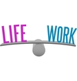 Balance life and work decision choice vector image