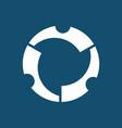 circle gear technology logo vector image
