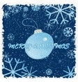 Congratulation card with christmas vector image