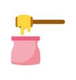 honey stick isolated icon vector image