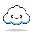 kawaii cartoon white emoticon cute cloud vector image
