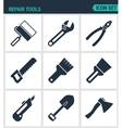 Set of modern icons Repair tools cushion vector image