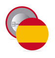 white round pin with flag of spain vector image