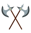 Medieval battle axe icon flat style vector image