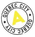 Quebec City stamp vector image