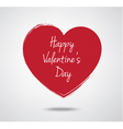 Valentines Day typography heart label vector image