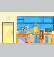 programmers at work composition vector image vector image