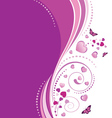 Violet swirl ornament vector image