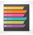Colorful curled bookmarks vector image