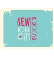 Varsity New york Brooklyn college university vector image