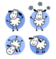 cute doodle sheep collection vector image