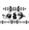 vikings animals stencil vector image vector image