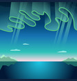 aurora borealis vector image