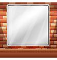 Blank border on brick wall vector image
