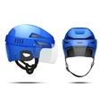 Classic Hockey Helmet vector image