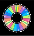 Colour Wheel of Fortune Game Jackpot on Black vector image