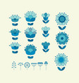 flower horizontal design element template vector image