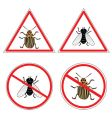 fly and Colorado potato beetle vector image