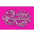 happy Valentines day calligraphy vector image