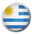 isolated flag of uruguay vector image