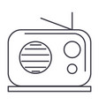 radio reciever line icon sign vector image
