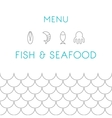 Restaurant menu design template Seafood vector image