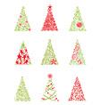 Set of modern christmas trees vector image
