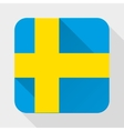 Simple flat icon Sweden flag vector image