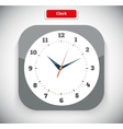 Time and Clock App Icon vector image