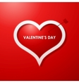 Valentines day card design background vector image vector image