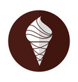 yummy ice cream cone vector image