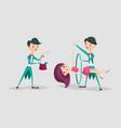 cute magician character tricks vector image