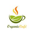 organic cafe symbol logo vector image
