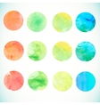 Watercolor circle design elements vector image vector image