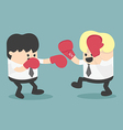 businessman fighting vector image