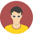icon of user avatar for web site or mobile vector image
