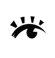 eye black vector image