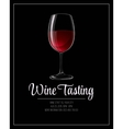 Wine tasting flyer template vector image