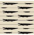 Zoo pattern with crocodiles vector image