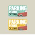 Parking Permit Card vector image