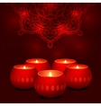 candles dark mandala vector image