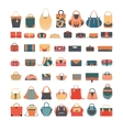 fashion set with various bags vector image
