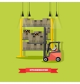 goods transportation from vector image