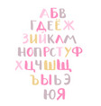 hand drawn alphabet geometric funny font vector image