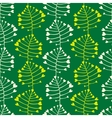 Ornate simple beauty leave seamless pattern vector image