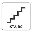 Stair sign Flat web icon vector image