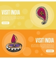 Visit India Touristic Web Banners vector image